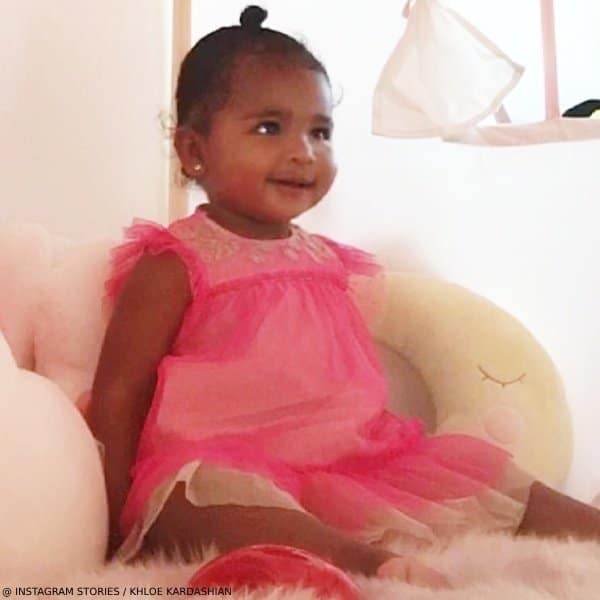 True Thompson Daughter Khloe Kardashian Billieblush Pink Gold Tulle Dress