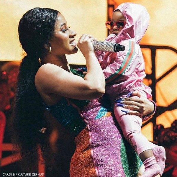 Cardi B Daughter Kulture Cephus - Gucci Baby Girls Pink Mini Me GG Logo Jacket