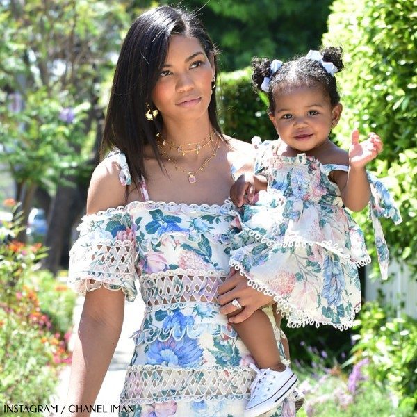 Chanel Iman's Daughter Cali Shepards - Zimmermann Mommy & Me Pink Floral Sundress