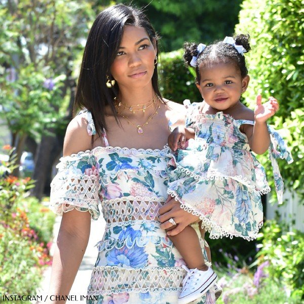 Chanel Iman's Daughter Cali Shepards - Zimmermann Mommy & Me Pink Floral Sundress