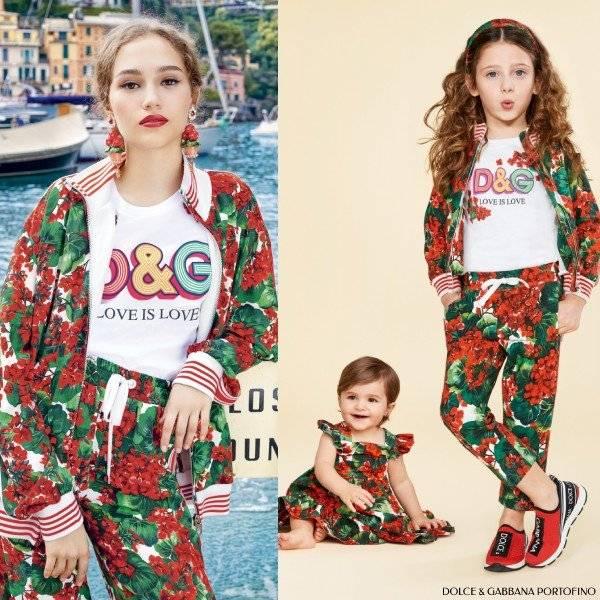 Dolce & Gabbana Girls Mini Me Red Geranium Portofino Tracksuit