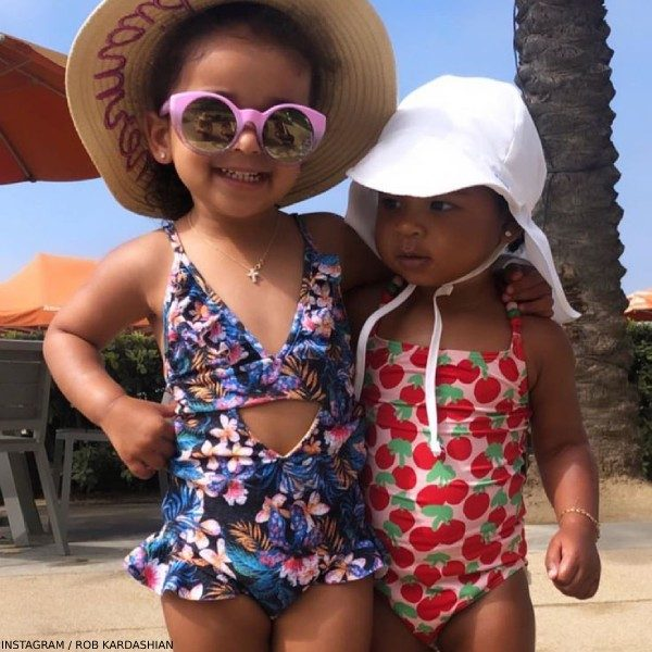 Dream Kardashian True Thompson Stella McCartney Kids Red Cherry Swimsuit