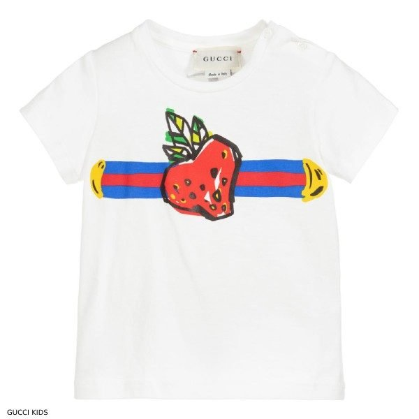 Gucci Baby Girl Strawberry Logo Tshirt