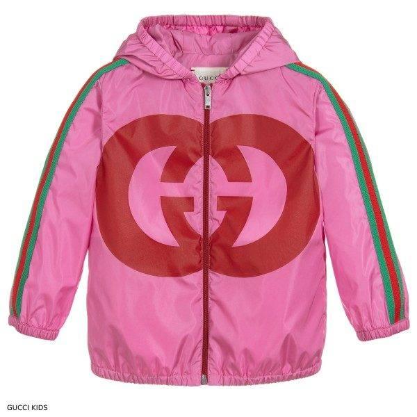 Gucci Baby Girls Pink Mini Me GG Logo Jacket