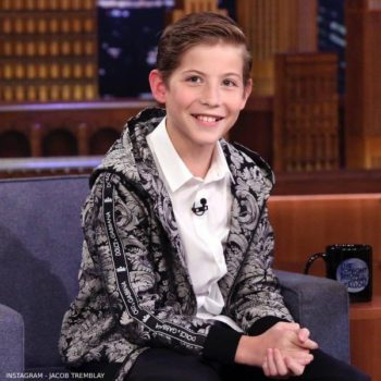 Jacob Tremblay Dolce Gabbana Boys Silver Black Jacket Tonight Show Jimmy Fallon