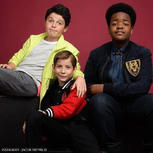 Jacob Tremblay Good Boys Movie - Stella McCartney Have a Nice Day Boys Wool Bomber Jacket