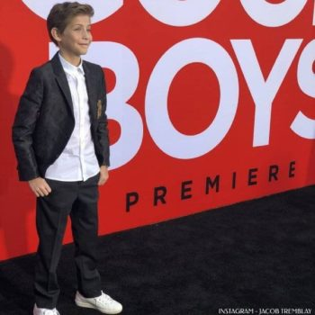 Jacob Tremblay Good Boys Premiere - Dolce Gabbana Boys Mini Me Crown Logo DNA Trend Suit