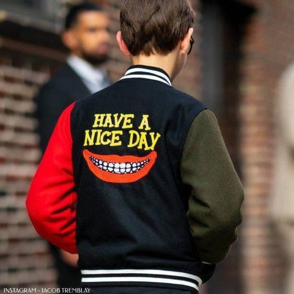 Jacob Tremblay - Stella McCartney Have a Nice Day Boys Wool Bomber Jacket