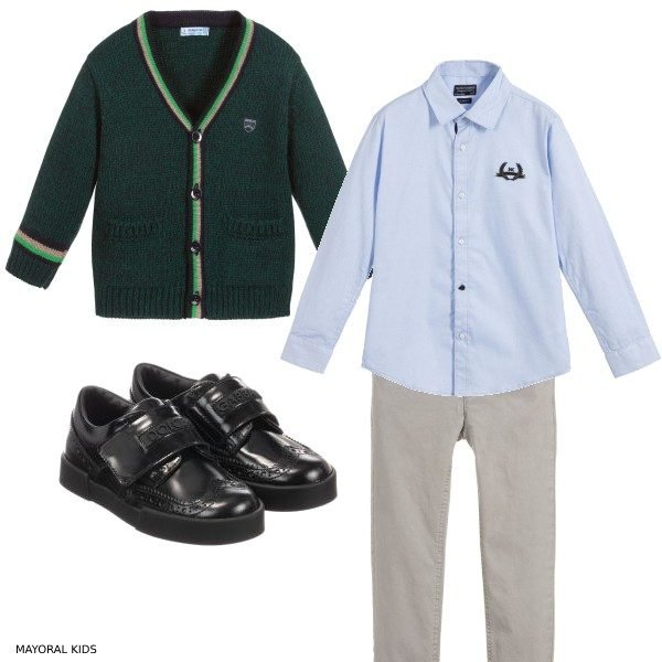 Mayoral Boys Back to School Green Cardigan