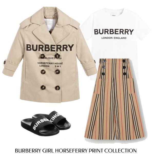 Burberry Girl Mini Me Beige Horseferry Print Collection