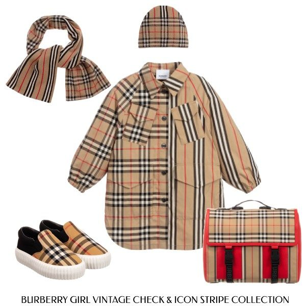 Burberry Girls Check Vintage Check Icon Stripe Dress Collection
