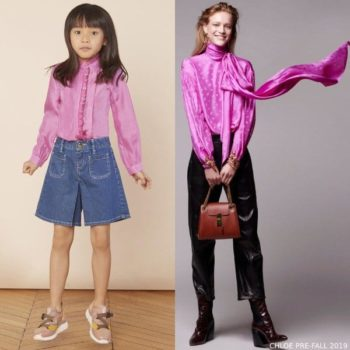 Chloe Girl Mini Me Pink Silk Blouse
