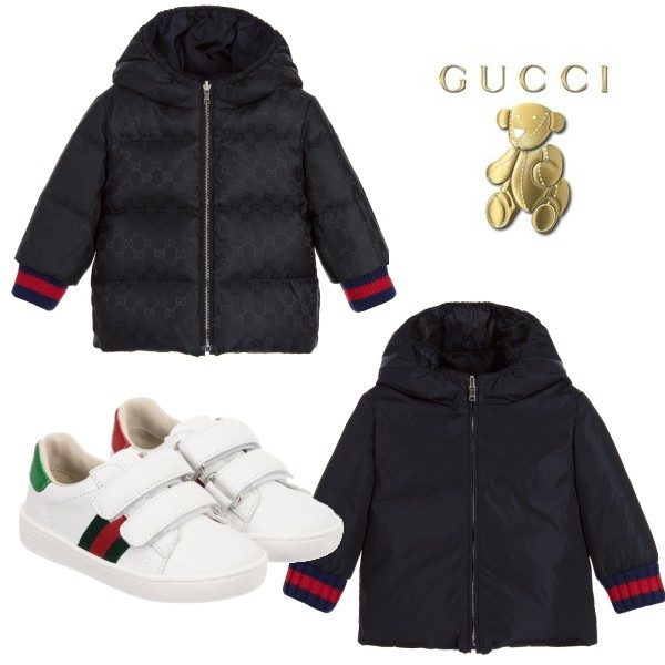 Gucci Baby Blue GG Logo Down Padded Jacket