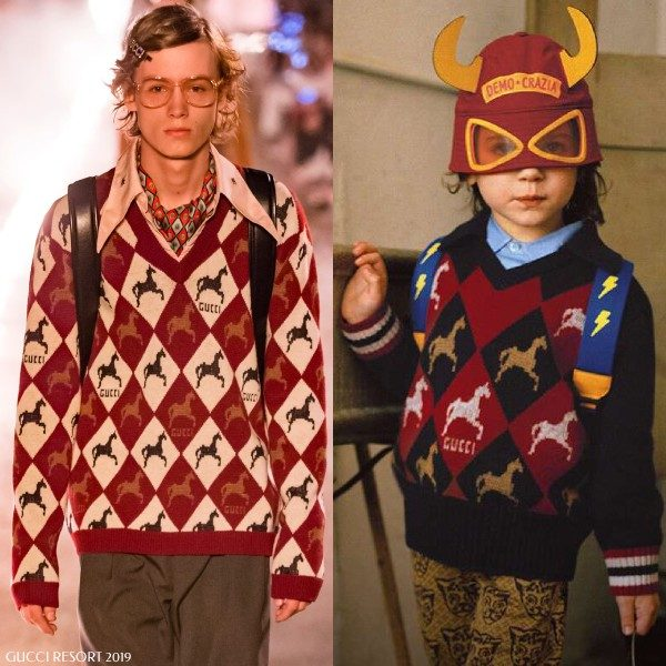 Gucci Boy Mini Me Horse Logo Sweater
