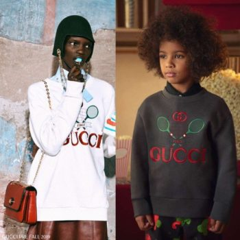 Gucci Kids Mini Me Grey Tennis Sweatshirt