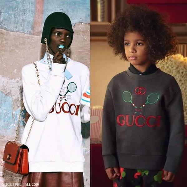 Gucci Kids Mini-Me Grey Tennis Sweatshirt