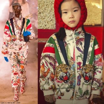 Gucci Girls Mini Me Flora Print Zip Up Sweatshirt & Joggers