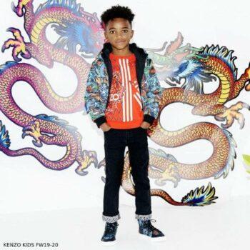 Kenzo Boy Japanese Print Reversible Down Jacket