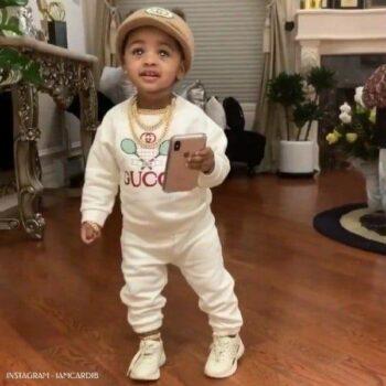 Kulture Cephus Gucci Baby Ivory Cotton Tennis Sweatshirt