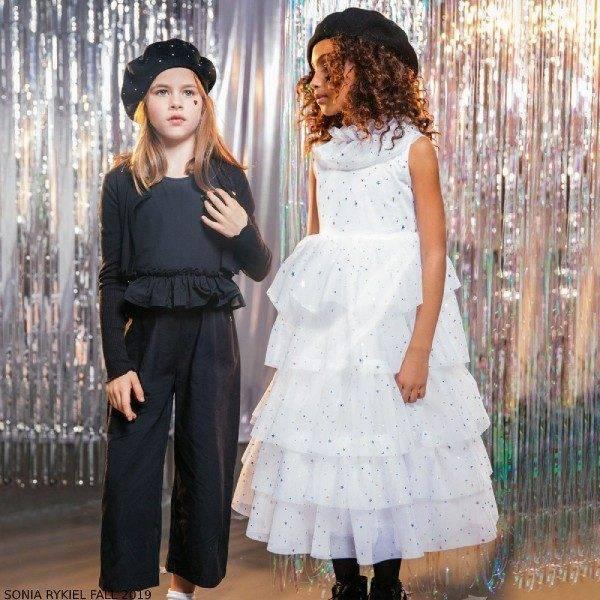 Sonia Rykiel Paris Girl White Tulle & Stars Party Dress