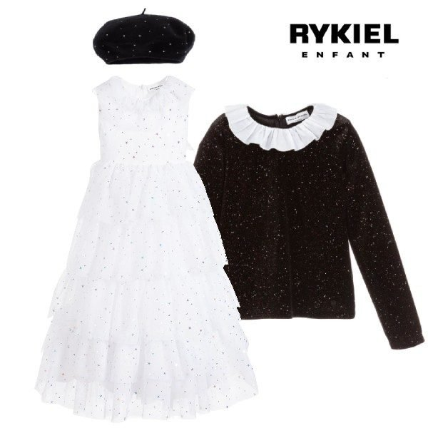 Sonia Rykiel Paris Girl White Tulle & Stars Special Occasion Dress
