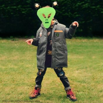 Stella McCartney Kids Boys Grey Space Padded Coat