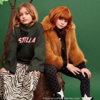 Stella McCartney Kids Pink Zebra Cotton Skirt