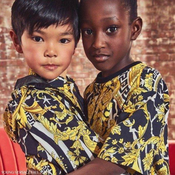 Young Versace Savage Baroque Print Shirt & Dress