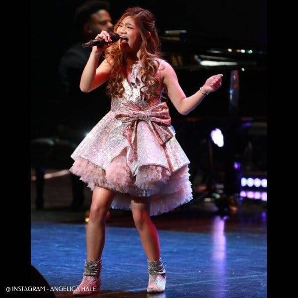 Angelica Hale Hometown Concert - Junona Silver Pink Sequin Dress