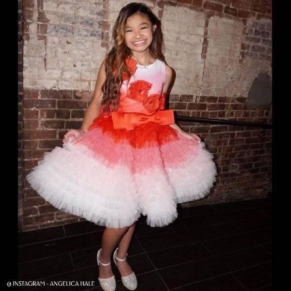 Angelica Hale - Junona Girls Red Tulle Dress Bag Set