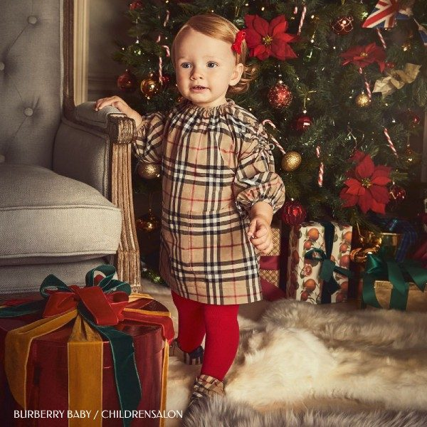 Burberry Baby Girls Beige Red Check Dress Childrensalon Christmas Outfit 2019