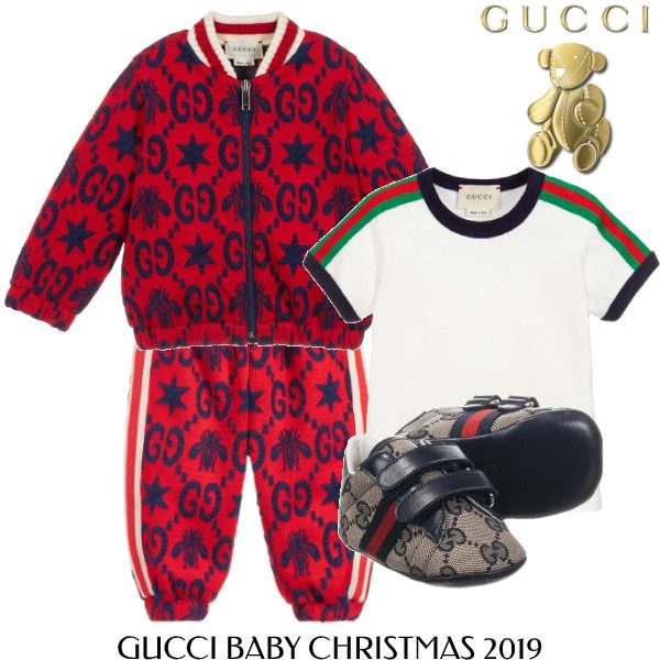 Gucci Baby Boy Red Blue GG Zip-up Tracksuit Outfit