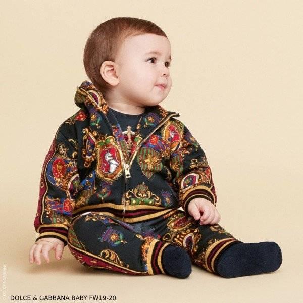 Dolce Gabbana Baby Boy Mini Me Black DG Knight Zip Up Jacket Pants