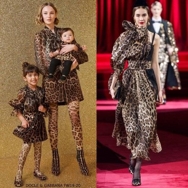 Dolce Gabbana Girl Mini Me Leopard Print Organza Silk Blouse Skirt Dress