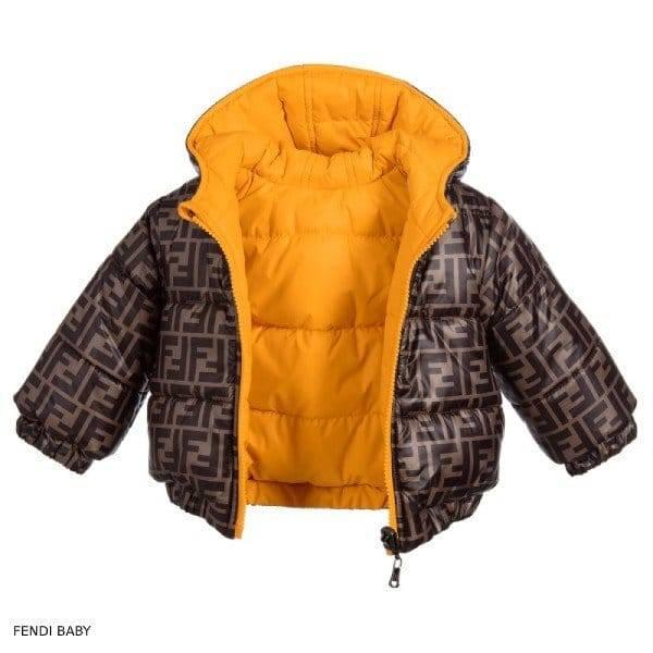 Fendi Baby FF Brown & Yellow Reversible Unisex Jacket
