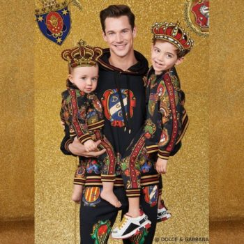 Dolce & Gabbana Boy Mini Me Black Knight Zip-Up Jacket & Pants