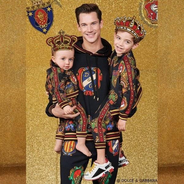 Dolce & Gabbana Boy Mini Me Black Knight Zip-Up Jacket & Pants