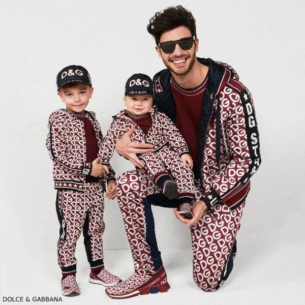 Dolce Gabbana Boys Mini Me Black Red DG Mania Loo Zip Up Sweatshirt