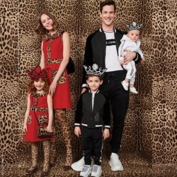 Dolce Gabbana Girls Mini Me Red & Leopard Trim Dress