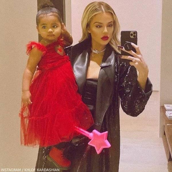 True Thompson Khloe Kardashian Dolce Gabbana Baby Girl Red Tulle Dress Gold Heart