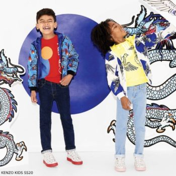 Kenzo Kids Blue Dragon Reversible Jacket & Red Logo Sweatshirt