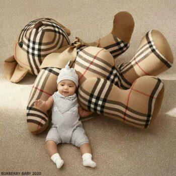 Burberry Baby Grey Cotton Shortie Bear Gift Set