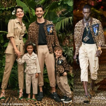 Dolce & Gabbana Boys Mini Me Leopard Print Sneek Peek Jacket