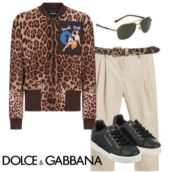 Dolce & Gabbana Boys Mini Me Leopard Print Sneek Peek Jacket Spring 2020