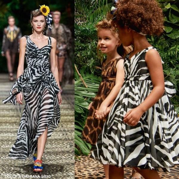 Dolce & Gabbana Girl Mini Me Black & White Zebra Print Silk Dress