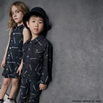 Emporio Armani Jr. Girls Blue Denim Logo Dress & Jacket