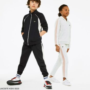 Lacoste Kids Boys Blue & White Tracksuit Girls Grey Sweatsuit