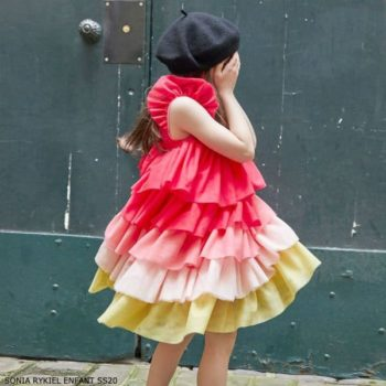 Sonia Rykiel Paris Girls Pink Tulle Special Occasion Dress