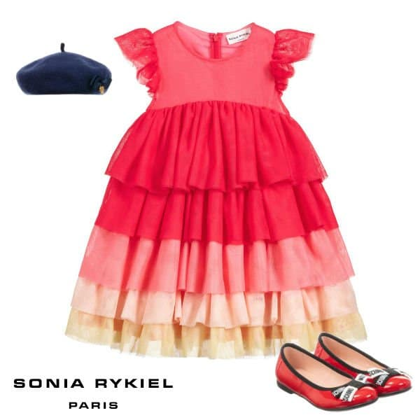 Sonia Rykiel Paris Girls Pink Tulle Special Occasion Dress Spring 2020