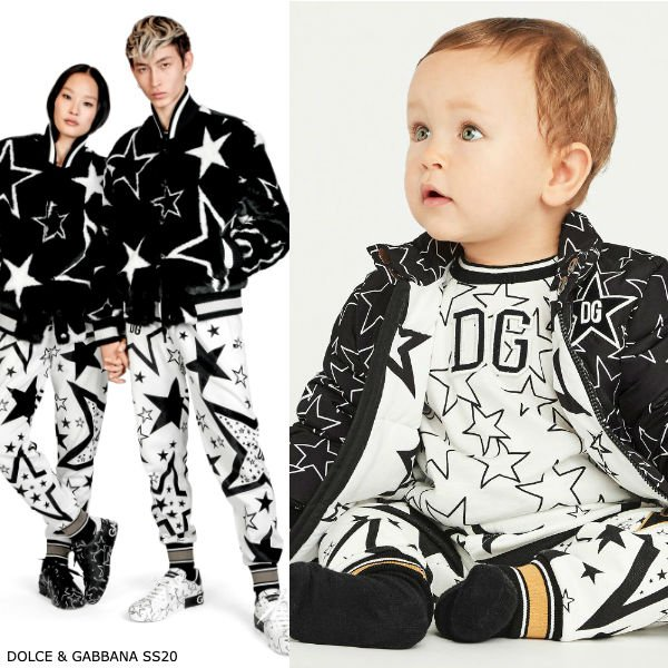 Dolce Gabbana Baby Boy Mini Me Black White Star Millennials Jacket Joggers
